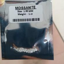 1 9mm kolor FG luźny moissanit kamień wszystkich 1ct Carat konfigurowalny diamentowy pierścionek doskonały krój VVS1 specjalne prezent dla kobiet tanie tanio KALALA WHITE Excellent None 1 9mm Total 1 carat Moissanite Grzywny