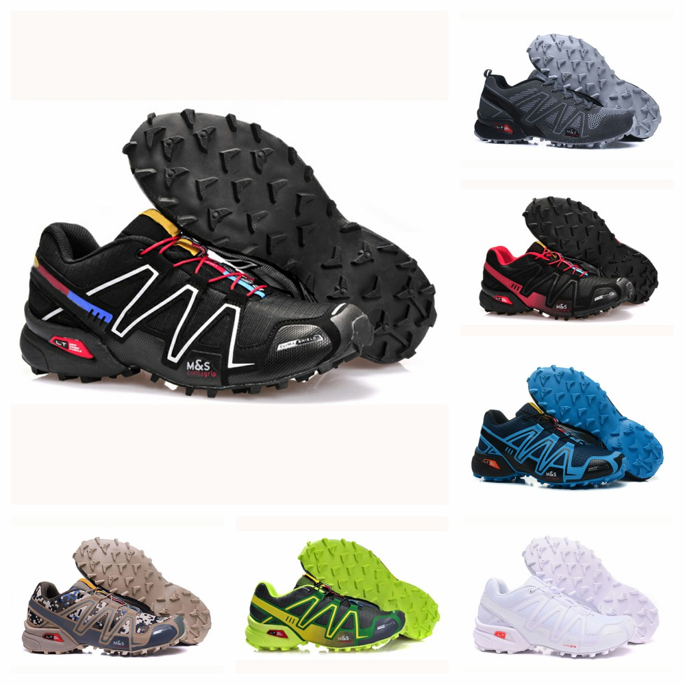 2020 New Speed Cross 34 CS 1 Men's Running Shoes  Black White Red Breathable Sport Shoes Size 40-46