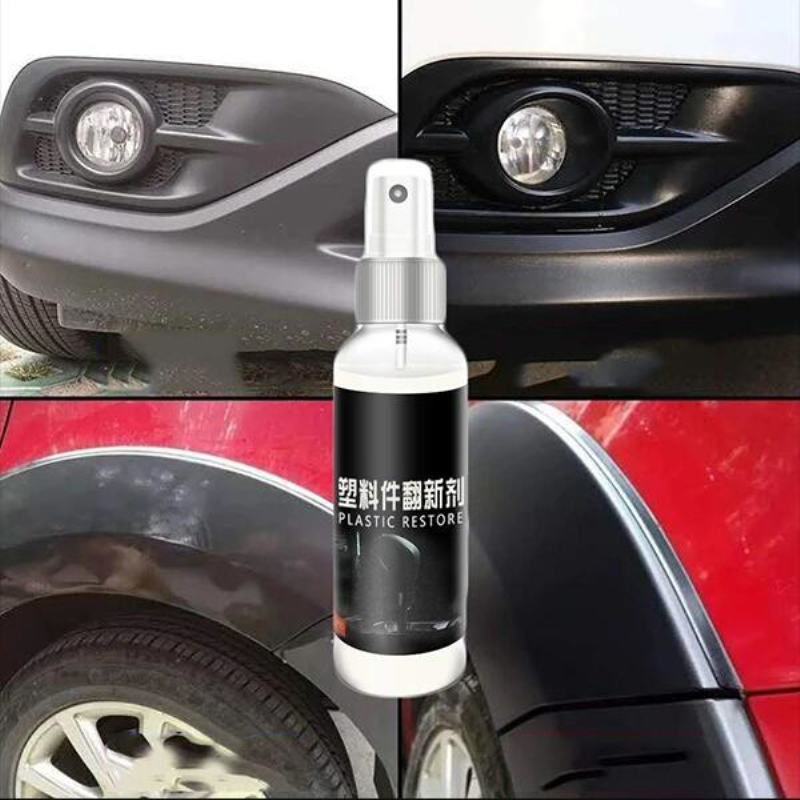 30ml Plastic Parts Retreading Agent Wax Instrument Panel Auto Interior Auto Plastic Renovated Coating Car Light Cleaner TSLM1