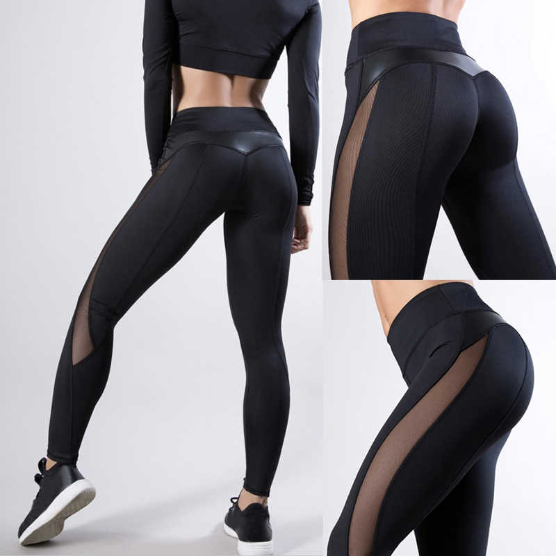 2019 frauen Leggings Sexy Hosen Push-Up Fitness Gym Leggins Laufende Netz Leggins Nahtlose Workout Hosen Femme Hohe Taille Mujer