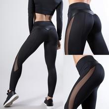 2020 Women Leggings Sexy Pants Push Up Fitness Gym Leggins Running Mesh Leggins Seamless Workout Pants Femme High Waist Mujer