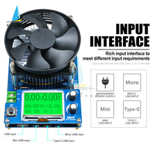 Medidor de capacidad de carga electrónica de corriente constante ajustable, voltímetro, medidor de capacidad de descarga de litio de plomo-ácido, 150W