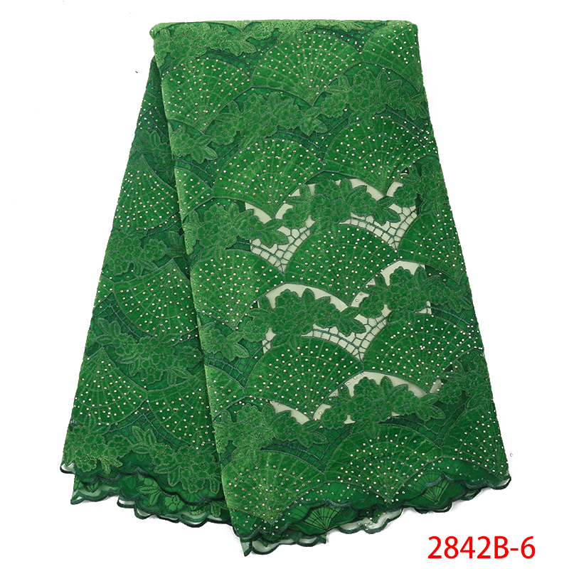 French Tulle Lace Fabric African Velvet Lace Fabric 2019 High Quality Lace Nigerian Embroidery Mesh Laces With Stones KS2842B-6
