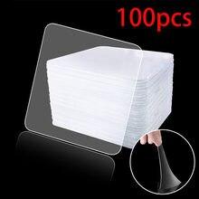 Cinta adhesiva de doble cara Nano Magic, transparente, sin traza, acrílica, reutilizable, impermeable, 6x6 cm, gran oferta, 100 Uds.
