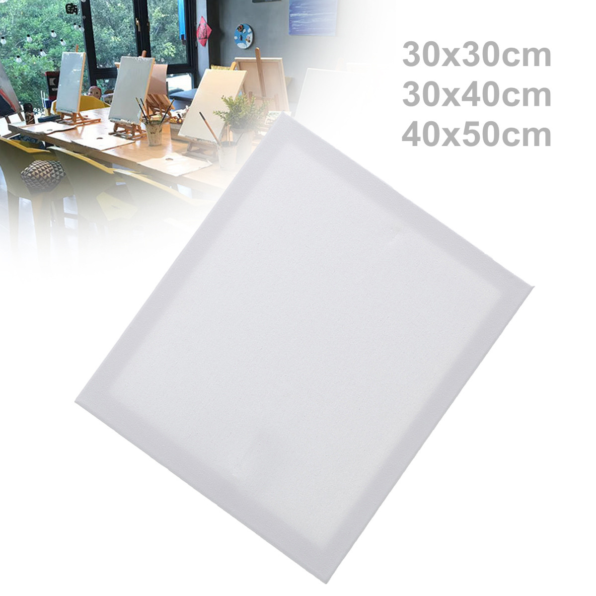 Cotton Wooden Paint Board Frame Blank Plain Stretched Painting Art Acrylic Canvas Oil Paint Board 3 Size Optional For Portraits