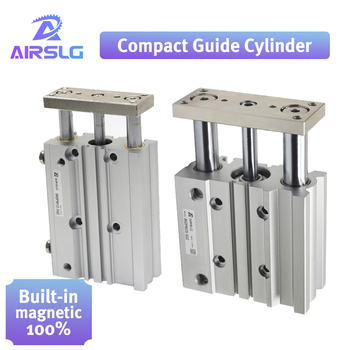 pneumatic cylinder Compact guide cylinder Thin Three axis air with guide rod MGPM bore 12 16mm stroke 10-150mm MGPM12-20Z 16-30Z air cylinder mgpm25 20z mgpm25 25z thin cylinder with rod three axis three bar pneumatic components mgpl25 20z mgpl25 25z afr