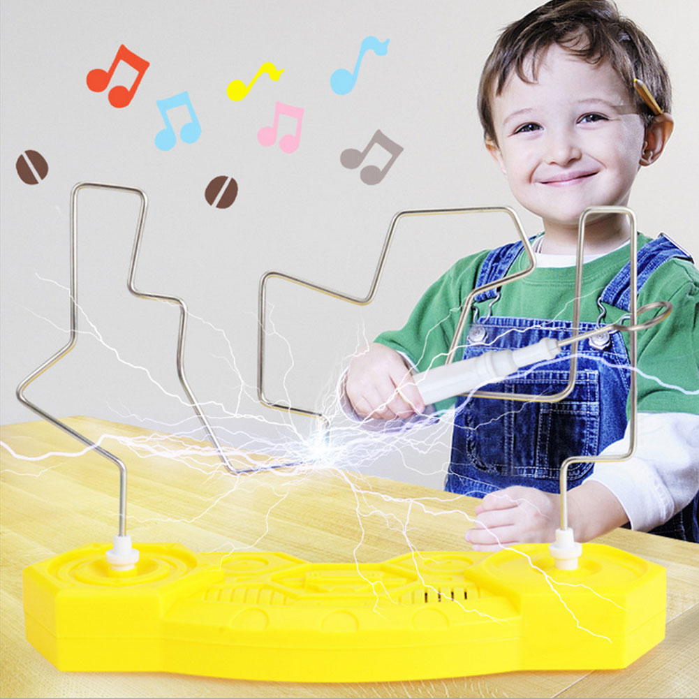 1set Kids Electric Interactive Touch Tube Labyrinth Toy Maze Game With Music Lighting Intermediate Levels Challenging Toy