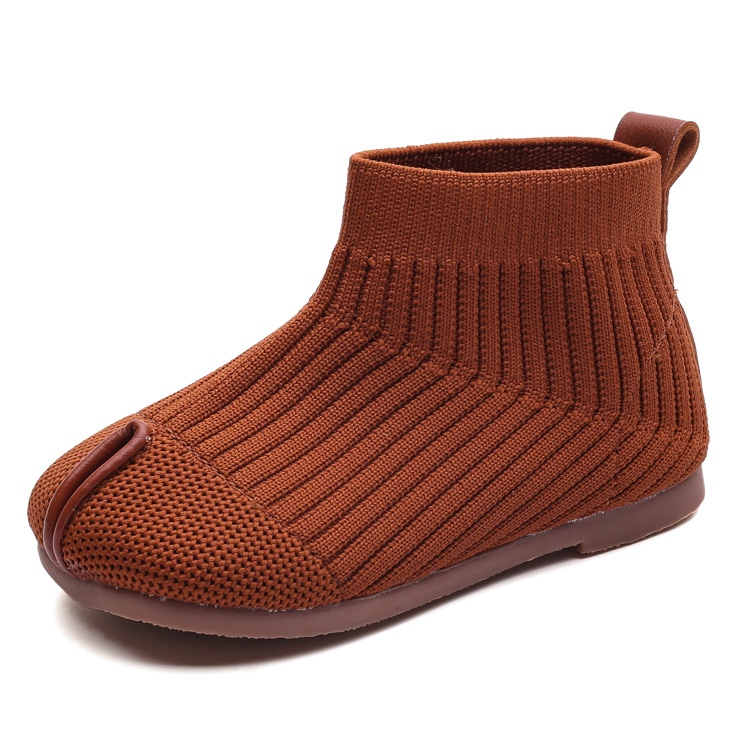 2020 Autumn new children's boots Korean style stretch socks shoes knitted shoes middle and small children princess shoes for kid