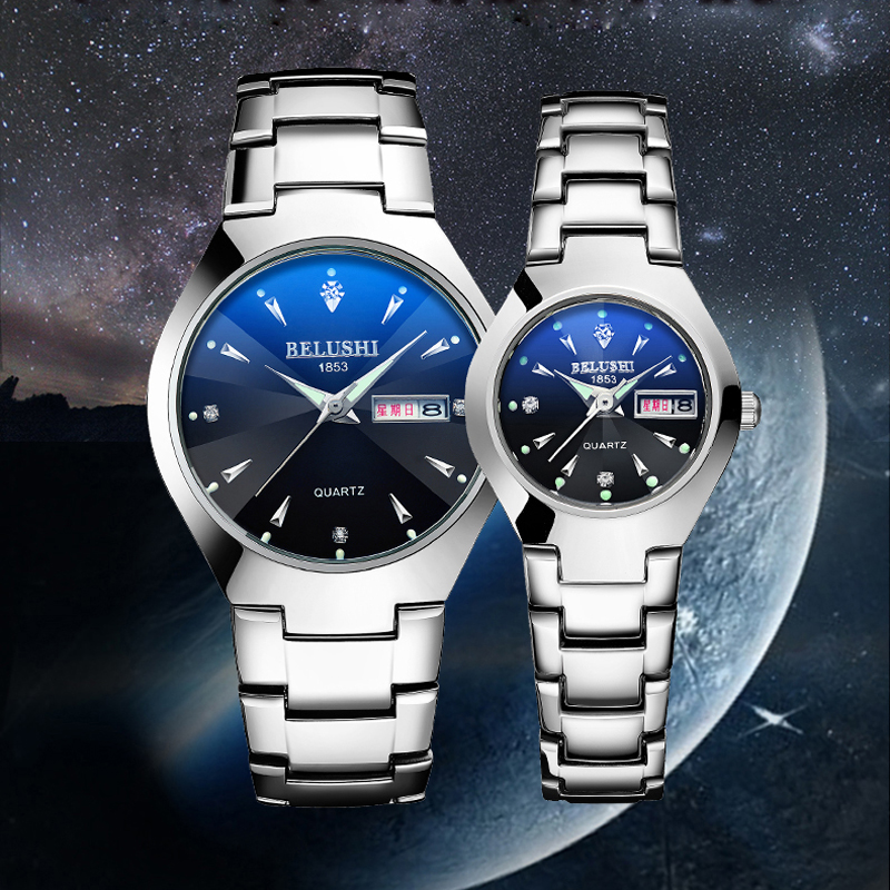 Fashion Couple Watch For Lovers Waterproof Stainless Steel Quartz Wrist Watch Men And Women Lovers Watch Montre Couple Gift New