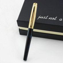 Negócio assinatura caneta luxo metal 0.38/1.0/0.5mm caneta caneta caneta tinta nib iraurita papelaria escritório material escolar