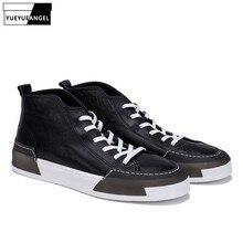 Nuevos zapatos de tacón alto para hombre Pisos con cordones casuales Zapatillas