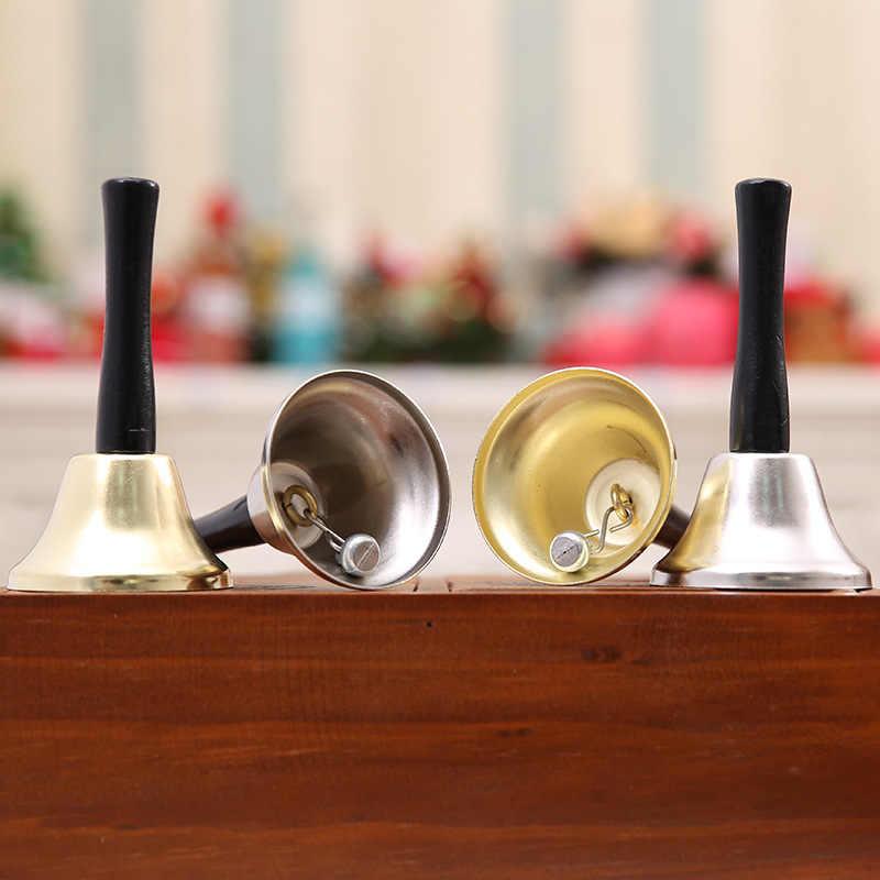 Metalen Kerst Hand Bell Nobele Receptie Diner Party Winkel Hotel Decor Hand Bell School Tafelbel Restaurant Call Bell Dienst