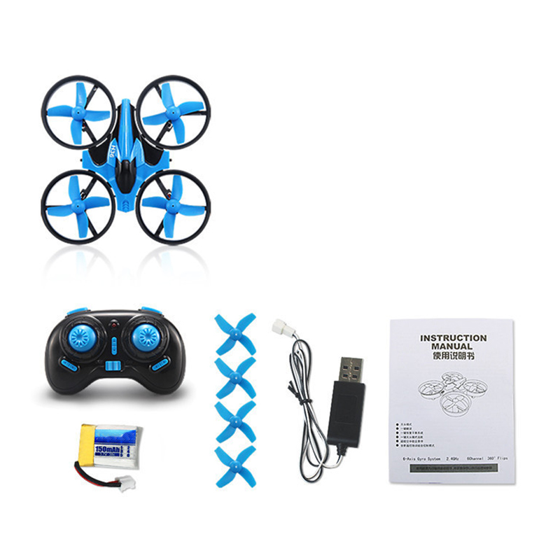 Quadcopter 2.4G Mini Drone Remote Control Free Rotating Headless Mode Aircraft With LED Light For Kids
