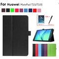 Умный чехол для Huawei Matepad T10S 2020, складной чехол-подставка из искусственной кожи для Huawei Matepad T10/T10S 10,1 дюйма, чехол для планшета + пленка + ручка