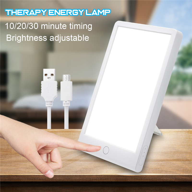 LED Therapy Energy Lamp 10000 Lux Eye Protection Health Light Daylight Portable Light USB With Adjustable Base Natural Sun Lamp
