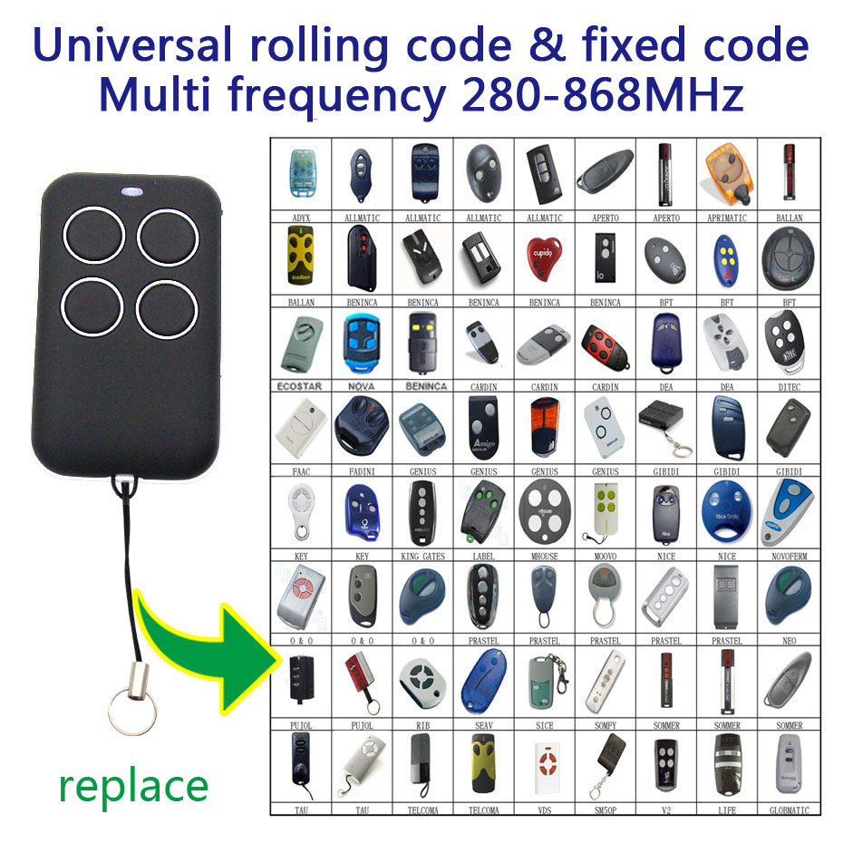 Copy Gate Garage Door Remote Control Rf 315 330 433 868 Mhz Universal Duplicator Fixed Code Rolling Code Remote Control