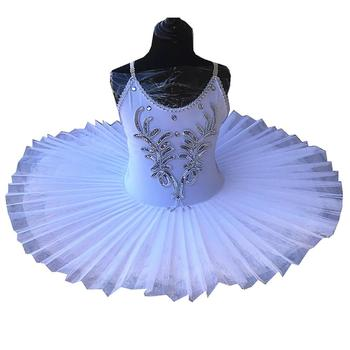 Белое платье для живота, детский костюм с лебедем и озером, балетная пачка для девочек, костюм для танцев, профессиональная сценическая бале...