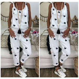 Loose Jumpsuit Overalls Dungarees Trousers Autumn Casual Fashion Long Baggy