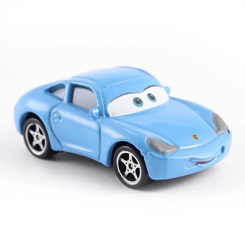 Disney Pixar-Coche de juguete de Metal fundido a presión, 3 coches, Sally, Rayo McQueen, regalo para niño y niña, Envío Gratis