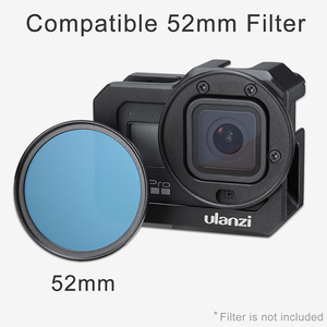 Image 3 - ULANZI jaula de Metal G8 5 para cámara Gopro Hero 8, Zapata fría Dual para luz LED, micrófono, accesorios para Cámara de Acción
