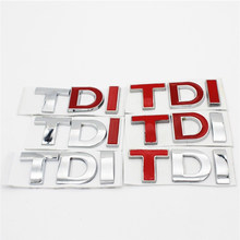 ABS Chrome TDI GTI Grille Rear Trunk Emblem Badge Auto Car Logo Embleem Sticker For Volkswagen VW Passat MK4 MK5 MK6 Golf Polo(China)