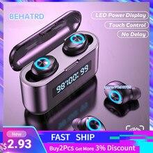 Słuchawki bezprzewodowe TWS słuchawki Bluetooth 2200mAh etui z funkcją ładowania sportowe wodoodporne słuchawki radio HiFi słuchawki douszne z mikrofonami