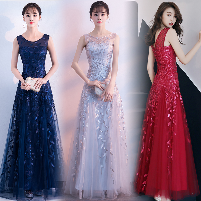 Guest Wedding Party Dress Elegant Burgundy Bridesmaid Dresses Host Party Club Sexy Dress Prom Azul Royal Vestido De Festa Longo