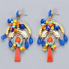 Jujia boêmio frisado grande borla brincos para mulher vintage statement gota balançar brincos boho artesanal jóias