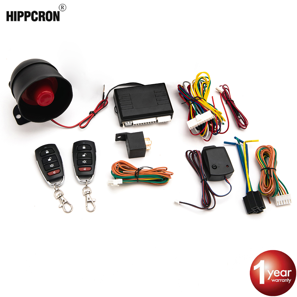 2 Remote Universal Car Remote Central Kit Security System Keyless Entry Siren
