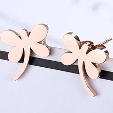 Fresh Small Dragonfly Stud Earrings For Women Kids Creative 316L Stainless Steel High Quality Korean New Fashion Jewelry Gifts(China)