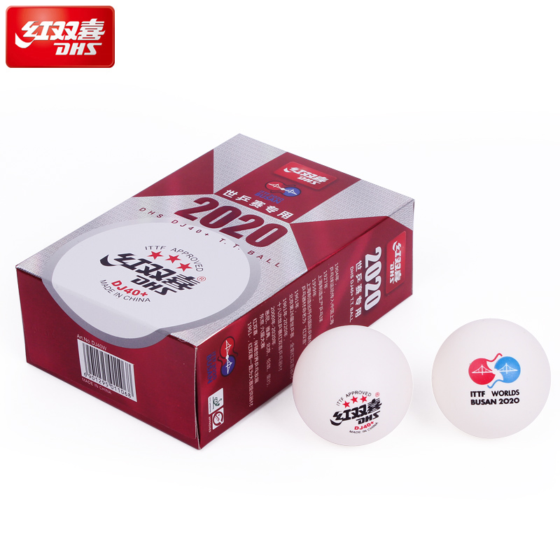 DHS DJ40+ Table Tennis Ball 6 PCS/BOX 3 Star ABS DHS Balls For Table Tennis Ping Pong Ball ITTF Approved BUSAN 2020 ITTF WORLDS
