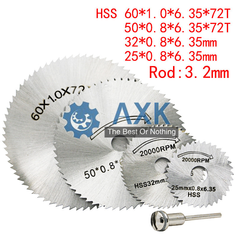 25/32/50/60mm HSS Circular Saw Blade Rotary Tool For Dremel Metal Cutter Power Set Wood Cutting Discs Drill Mandrel Cutoff LT103