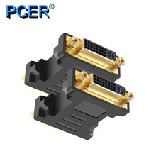 PCER Converter DVI female to female 1920*1080P Support for Computer Display Screen projector tv DVI adapter DVI converter