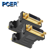 PCER konwerter DVI żeński do żeńskiego 1920*1080P wsparcie dla monitor do komputera ekran projektora telewizor z dostępem do kanałów adapter DVI DVI konwerter
