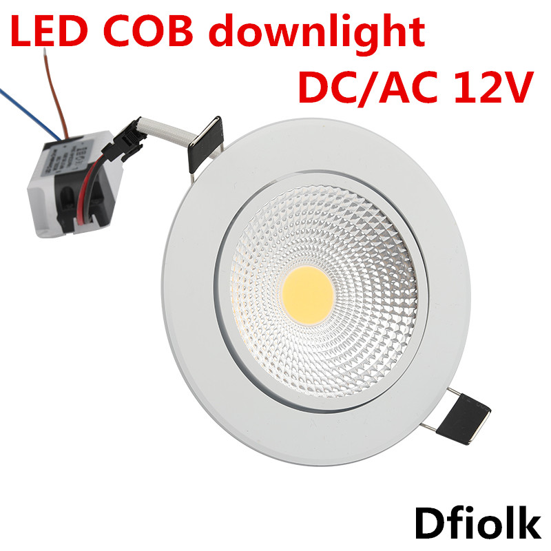 LED Downlight Super Bright Recessed LED SPOT Dimmable COB  5W 7W 9W 12W LED Spot Light LED Decoration Ceiling Lamp AC/DC 12V