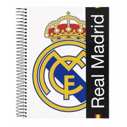 NOTEPAD A5 120 LEAVES REAL MADRID