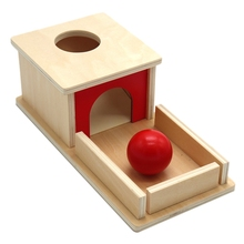 Professional Wood Educational Toy Object Permanence Box with Tray