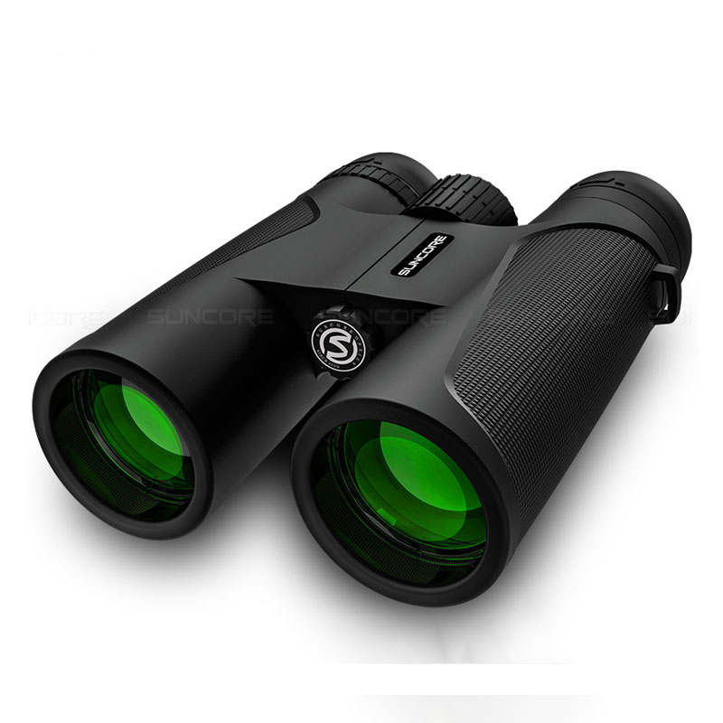 12x42 Binoculars HD High Power Multi-layer Green Coating Portable Telescope Outdoor Hiking Camping