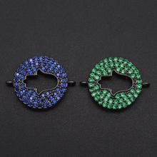18x24mm 100 CZ Zircon DIY Jewelry Hamsa Hand Connectors Charm Wholesale OEM Order Accepted Bulk Order Discounts cheap LAVIXMIA CN(Origin) 2 4g 2 4cm 1 8cm Metal Copper VX334