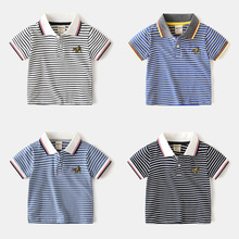 Boys Shirts Cotton Mother Kids Boys Sprots T- Shirts Tops Baby Boy Shirt Lapel Soft Stripe 2020 Summer Boys Clothes 24m-6 Years boys don t cry page 6