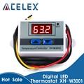 Цифровой светодиодный регулятор температуры, 10 А, 12 В, 24 В, 220 В переменного тока