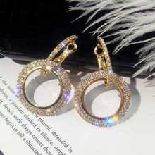 Модные большие круглые серьги кольца fyuan в Корейском стиле