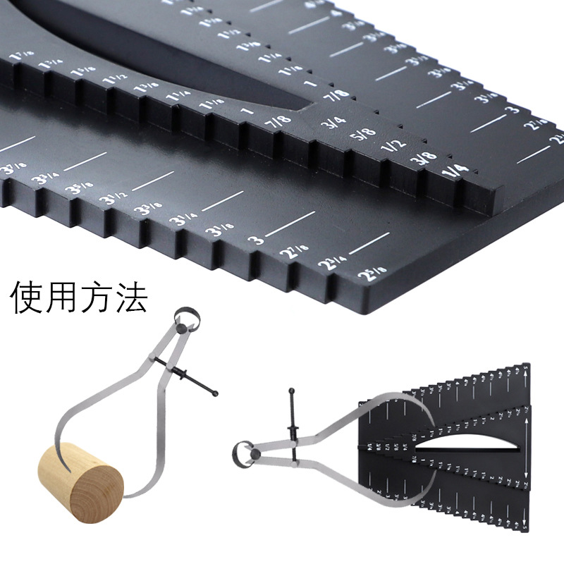 "Купить с кэшбэком Woodworking ruler caliper 1/8""-5"" center square center scribe inch inch precision measuring tool"