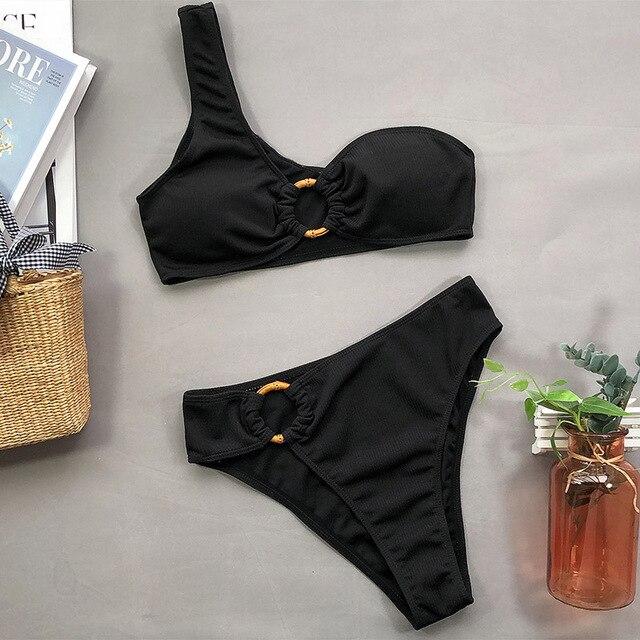 Ingaga Off Shoulder High Waisted Bikini 5