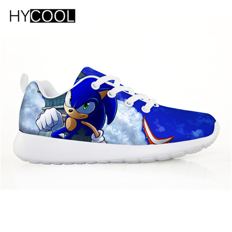 HYCOOL Children Shoes For Kids Boys Sonic The Hedgehog Flat Sneakers Outdoor Sports Running Shoes Chaussure Enfant Garcon Fille