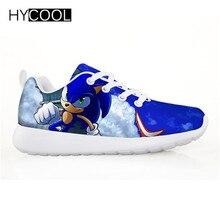 Hycool 子供靴のためのソニック · ザ · ヘッジホッグフラットスニーカーアウトドアスポーツランニングシューズ chaussure のランファンギャルソン fille