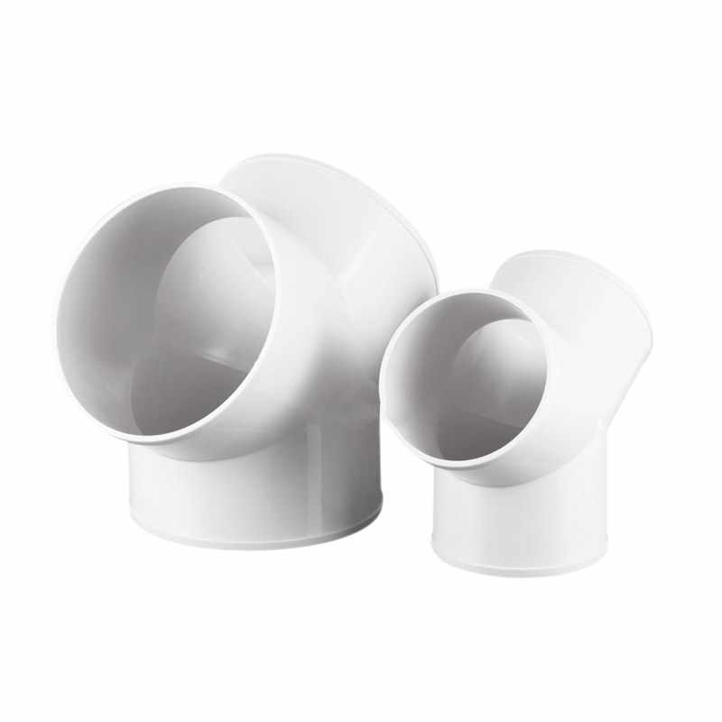 Fan 150mm Hose Union Elbow PVC 90 Vents for Extractor