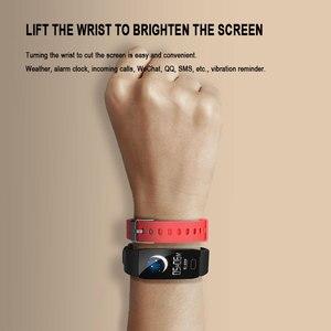 Image 4 - Sport krokomierz inteligentna bransoletka Monitor ciśnienia krwi Smartband Tracker snu Bluetooth przypomnienie informacji Pulsera Inteligente