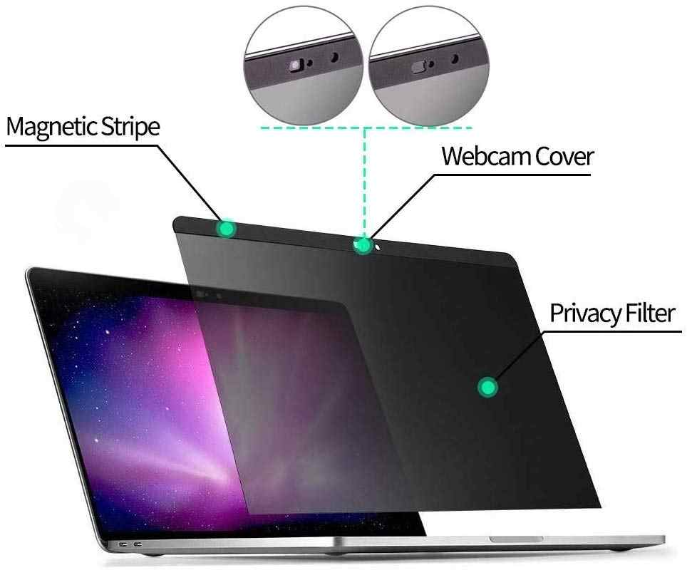 Compatible with MacBook Pro 15 inch -with Touch Bar TPU MacBook Pro Magnetic Privacy Screen Protector Webcam Cover Slider 2016//2017//2018 Including Touch Bar Models
