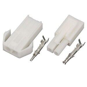 Image 3 - 10 conjuntos de EL 2P pequeno conector eletrônico tamiya 4.5mm braçamento, EL 4.5 2p conectores macho e fêmea + terminais